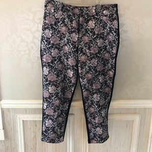 Eloquii floral brocade 16 slim leg pants gorgeous!